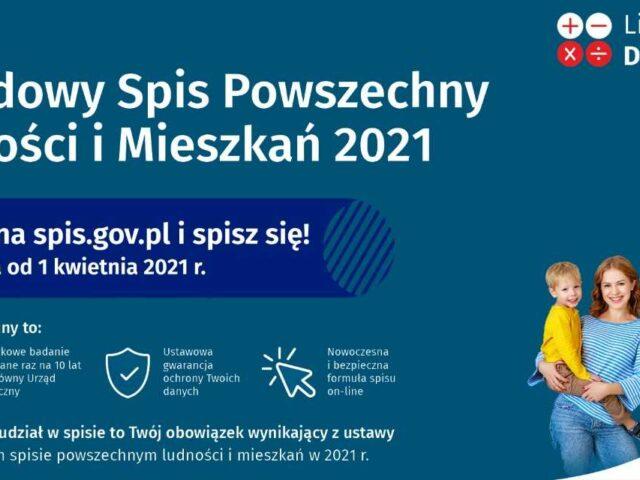 Grafika przedstawia zdjęcie rozdziny i skrótowe informacje z posta: Narodowy SpisPowszechny Ludności i Mieszkań 2021 jest obowiązkowy, spis trwa do 1 kwietnia 2021 roku, szczegóły na stronie spis.gov.pl