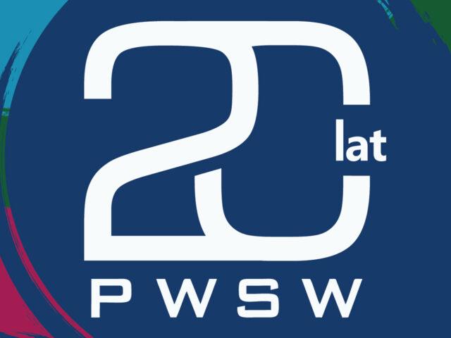 Grafika z napisem 20 lat PWSW