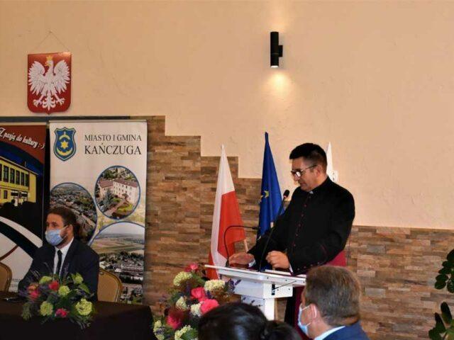 Ks. prałat dr Wojciech Pac podczas przemowy